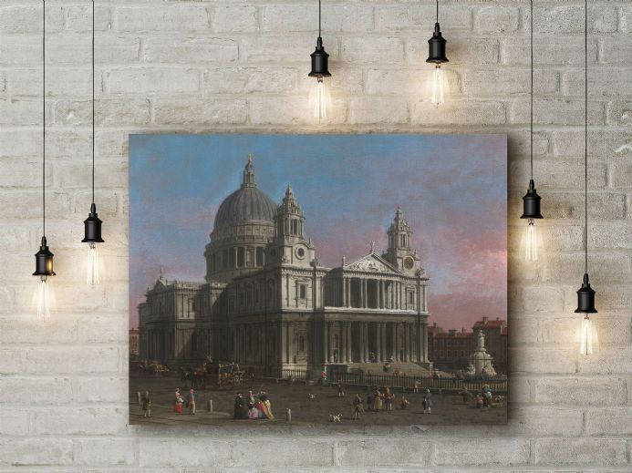 Canaletto: St Paul's Cathedral. Fine Art Canvas.